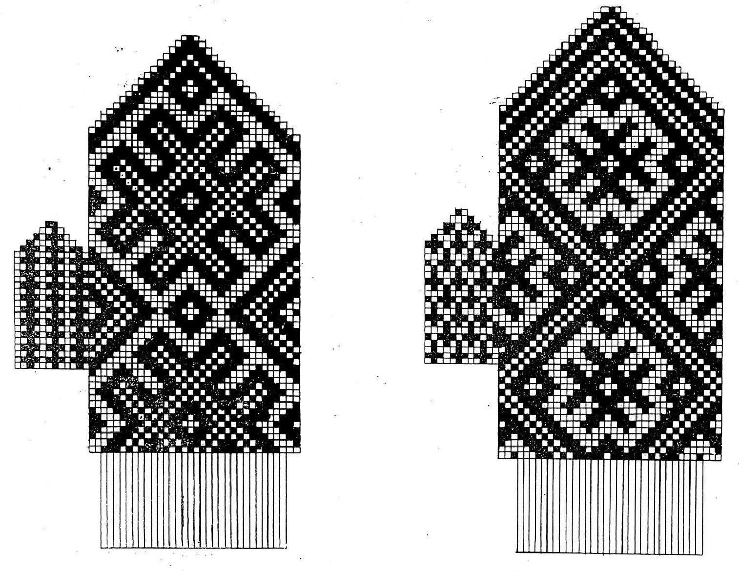Варежки с рисунком и орнаментом добра